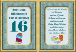 Geburtstagswünsche Zum 16 Gl252ckw252nsche Lustige Geburtstag