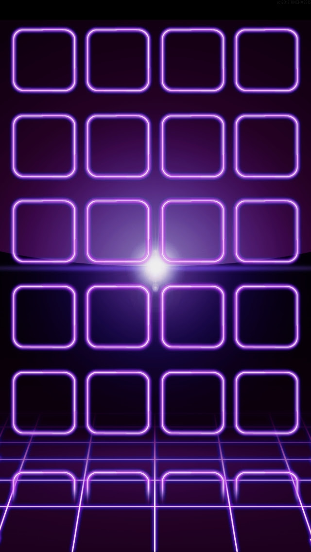 Purple Neon Frames - The iPhone Wallpapers