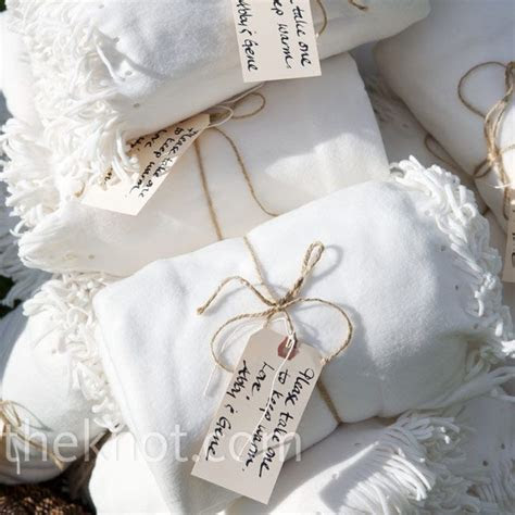 No Sew White Blanket Favors. can be picked up at most