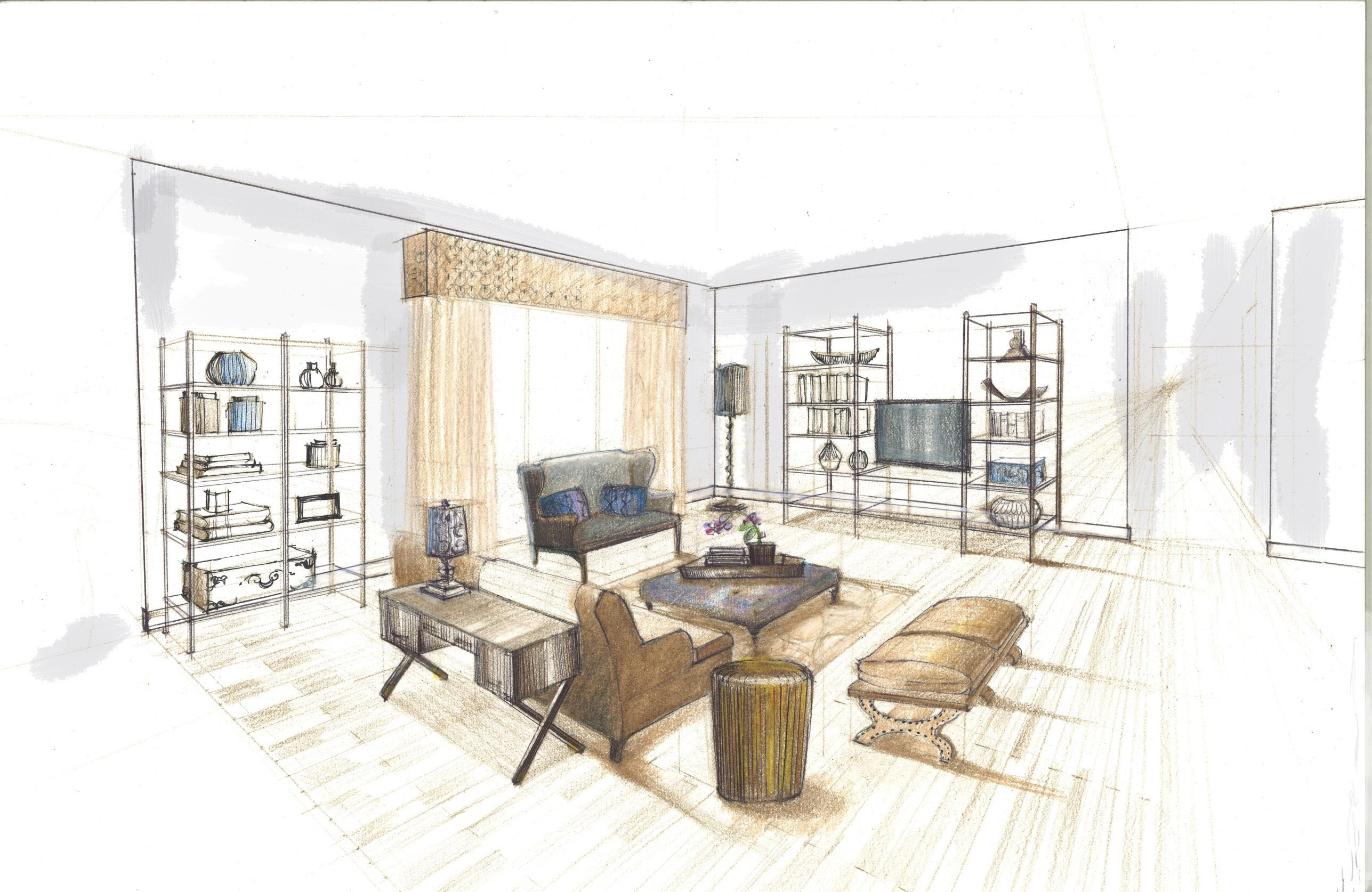 "Yes you can draw!""Interior Design Rendering: Learn how to render"