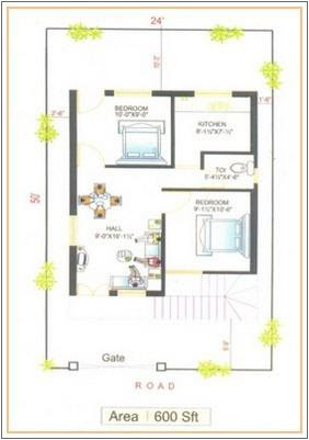 600 Sq Foot House Plan Gharexpert