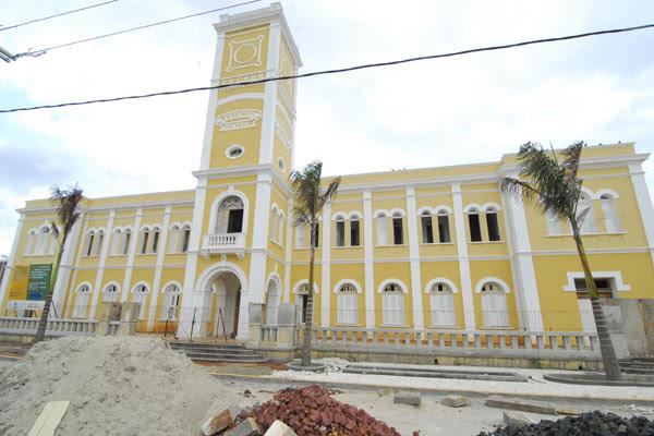 Com a obra quase pronta, Palacete da Estação Sampaio Correia reabre en março e será o Dnocs