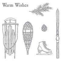 Winter Wishes Wood-Mount Stamp Set by Stampin' Up!