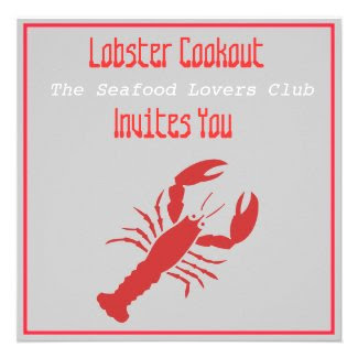 Lobster Cookout Invitation