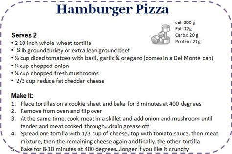 hamburger pizza recipe