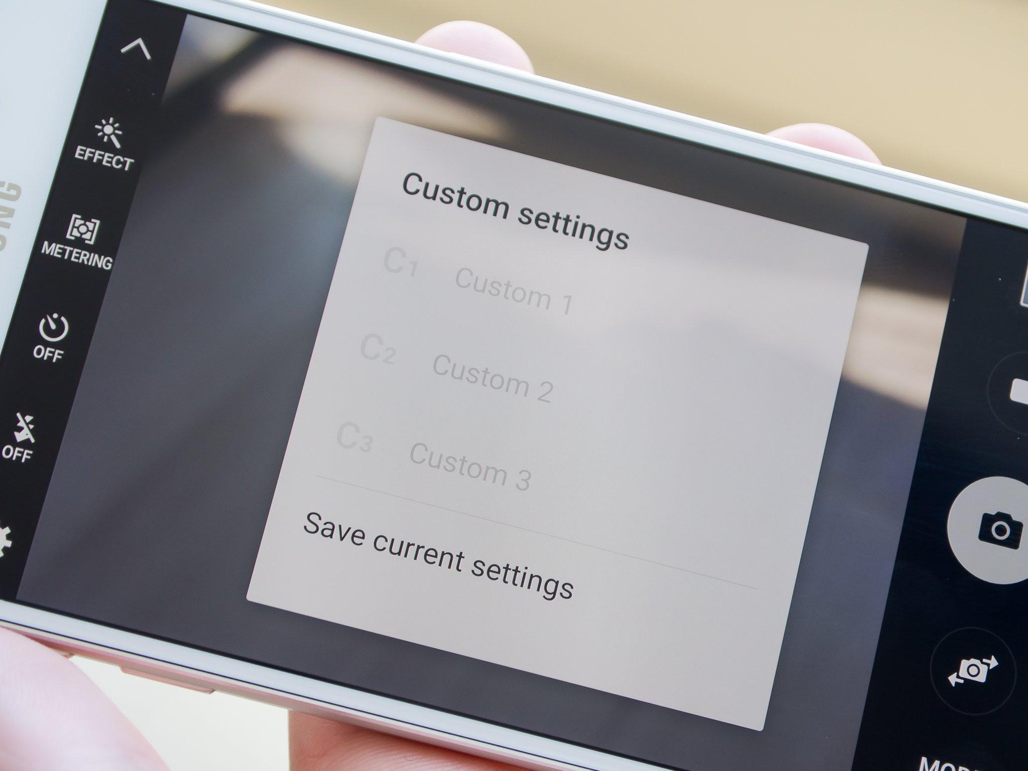 Galaxy S6 camera presets