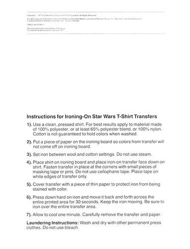 Star Wars Iron-On Transfer Book 002