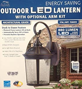 Amazon.com: Altair Lighting LED Outdoor Lantern With Optional Arm