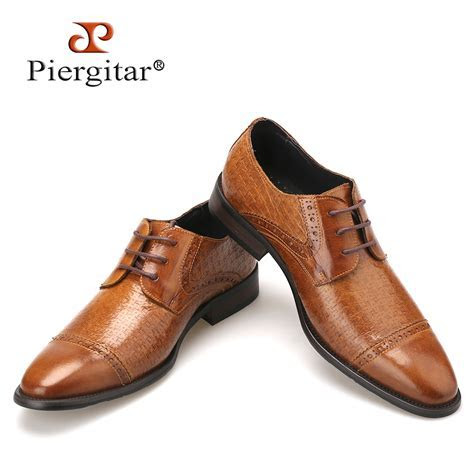 Genuine Leather Brown Men Shoes 2016 Italian Style Casual