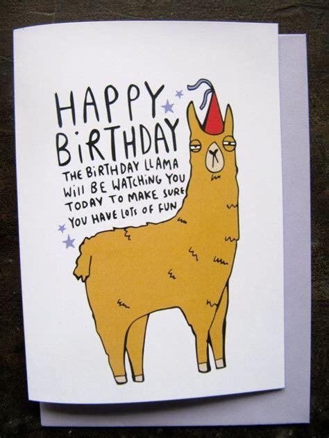 Birthday Llama   Greeting Card   Katie Abey   Llamas