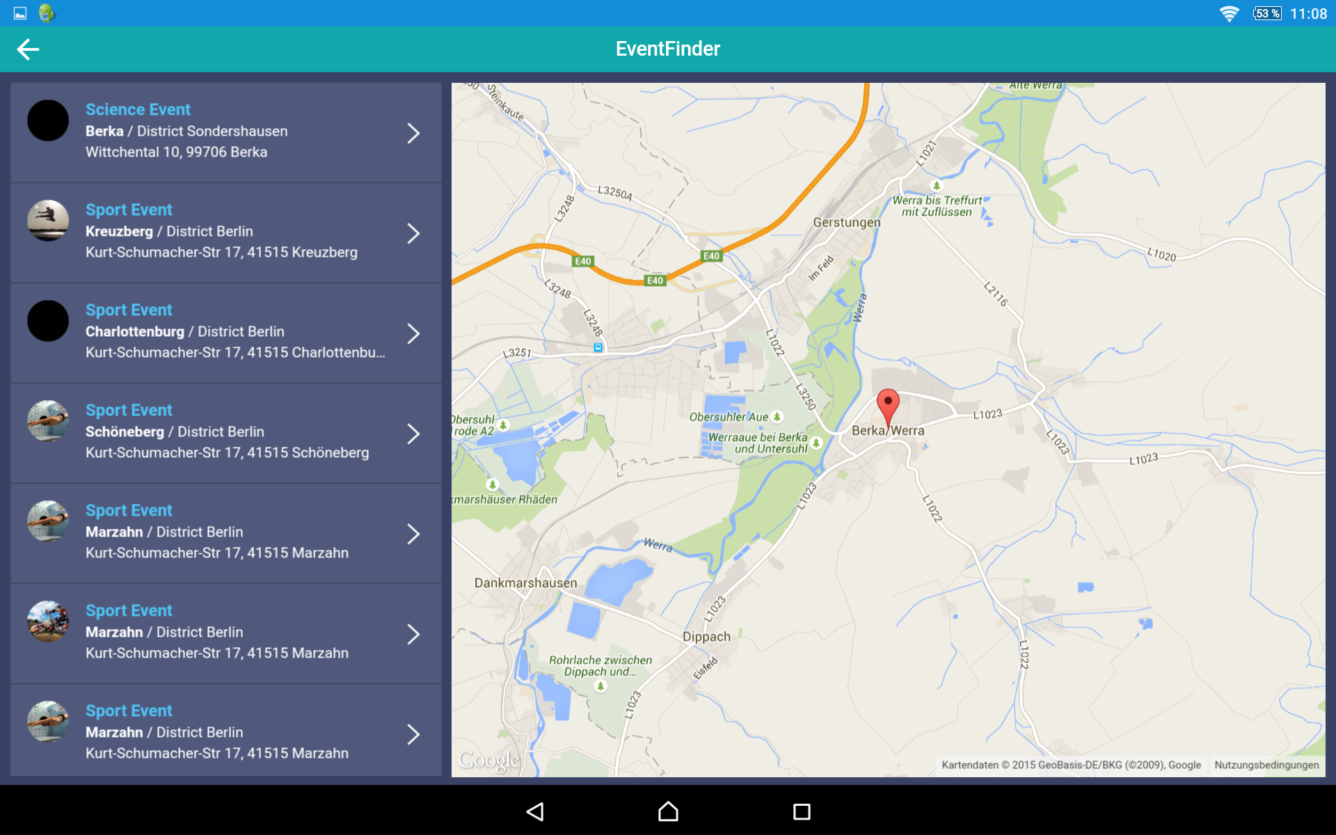 Event App And Maps Tablet Ionic Marketplace