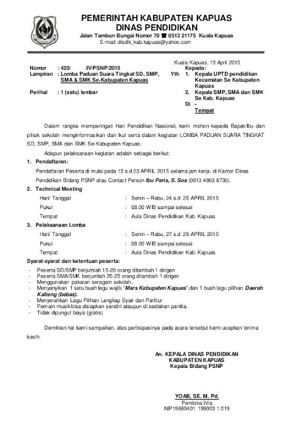 Contoh Surat Undangan Dinas Pendidikan Contoh Surat Dinas Undangan Contoh Surat Dinas Undangan Resmi