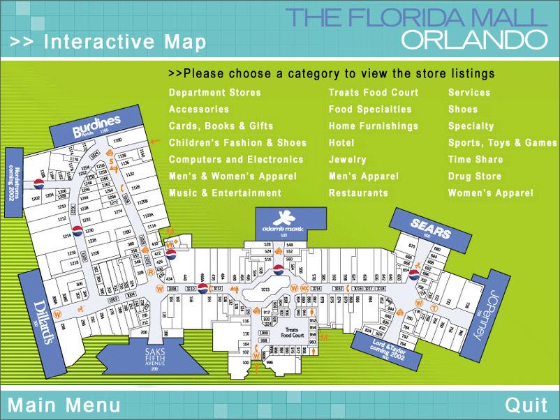 florida mall orlando map Orlando Florida Mall Map Florida Map 2018 florida mall orlando map