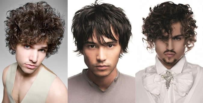 Masculinas Triangular forma da cara Penteado Exemplos
