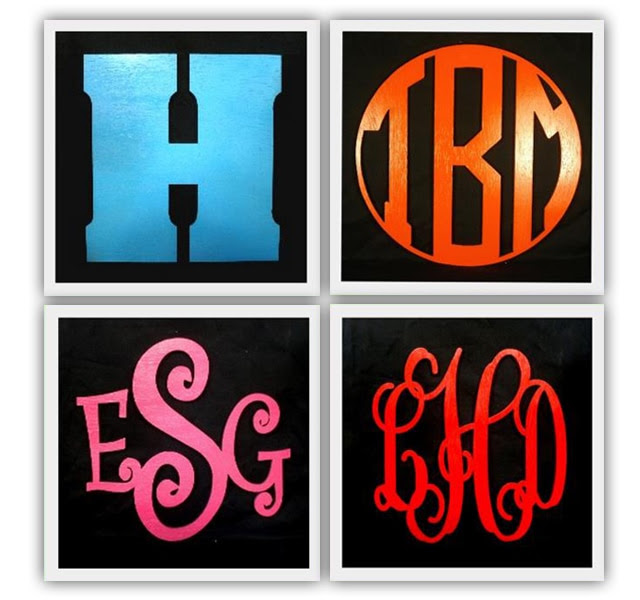 Wood Monogram GIVEAWAY from The Black Sheep! - How to Nest for Less