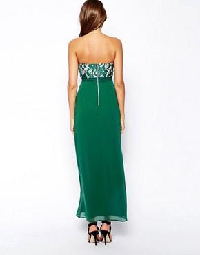 Image 2 ofElise Ryan Bandeau Maxi Dress with Thigh Split