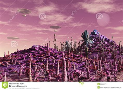 SciFi Floating Cities Royalty Free Stock Photography