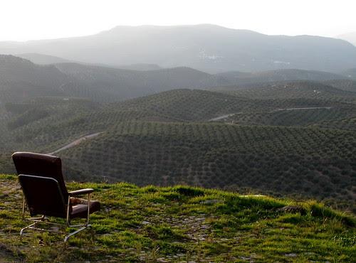 Una silla con vistas