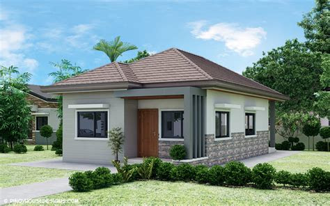 simple  bedroom bungalow house design pinoy house