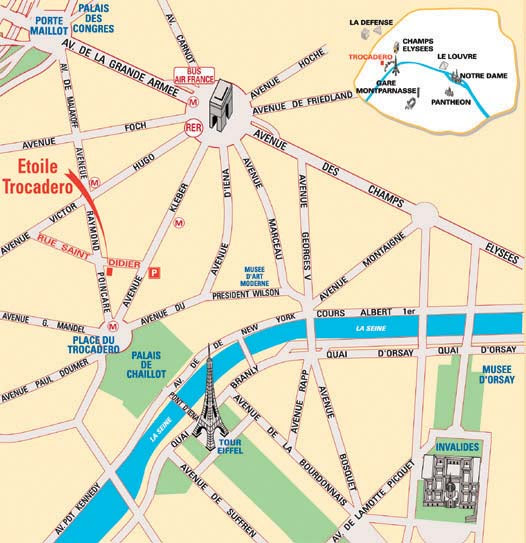 Hotel Etoile Trocadero Paris Near The Champs Elysees And