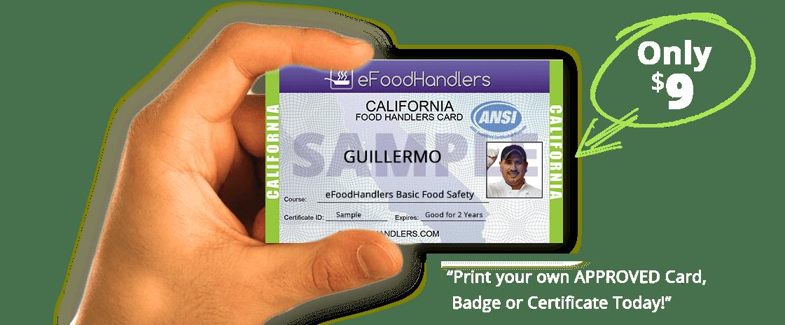 San Bernardino Food Handlers Card Test