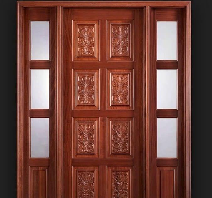 Contoh Unik Desain Pintu Rumah Dari Kayu Jati Autocad ...