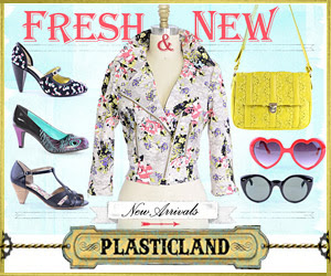 Fresh New Arrivals at Plasticland, Retro Sunglasses, Girly Moto Jackets, Vintage Shoes and more
