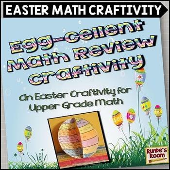 Easter Math Craftivity for the Upper Grades