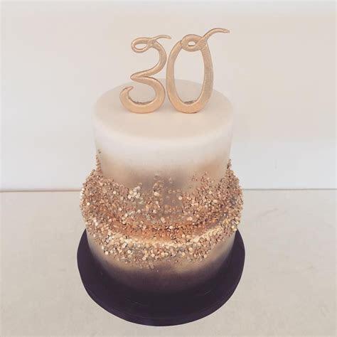 Black gold and white 30th birthday cake. Happy birthday