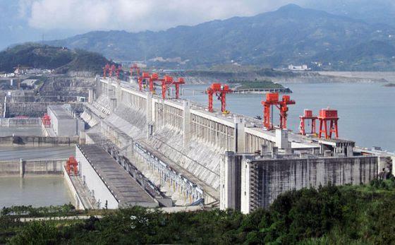 La presa de las Tres Gargantas, en China.