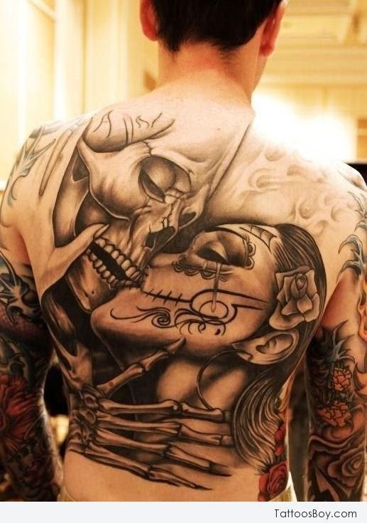 Big Skull Tattoo On Back Tattoo Designs Tattoo Pictures