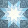 Blue & White Star Lotto Block