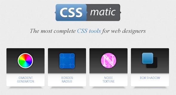 CSSMatic, herramientas para diseñadores web