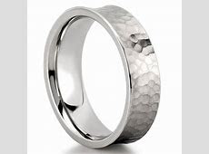 Hammered Wedding Band   Comfort Fit Hammered Band   Do Amore