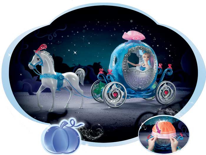 Amazon.com: Cinderella Transforming Carriage Doll Accessories ...