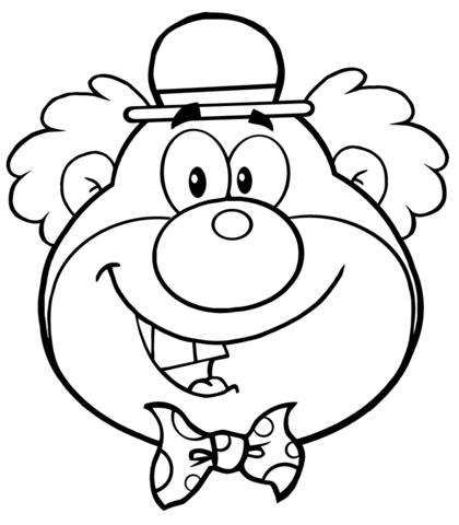 Coloriage Tête De Clown Drôle Coloriages à Imprimer Gratuits