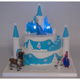 Frozen 2 Tier Castle Cake