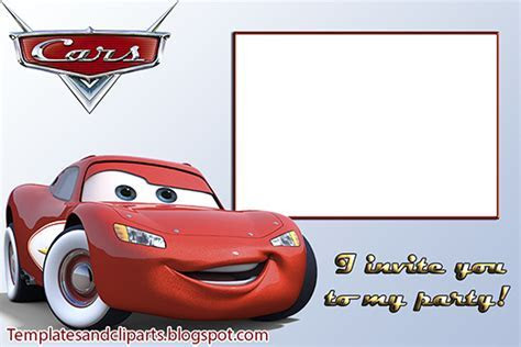 Pixar Cars Invitation Templates