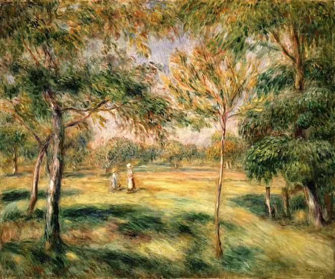 Pierre-Auguste Renoir - en el jardín arbolado