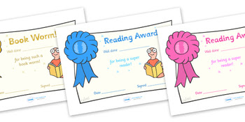 Editable Reading Award Certificates by Twinkl Printable Resources ...