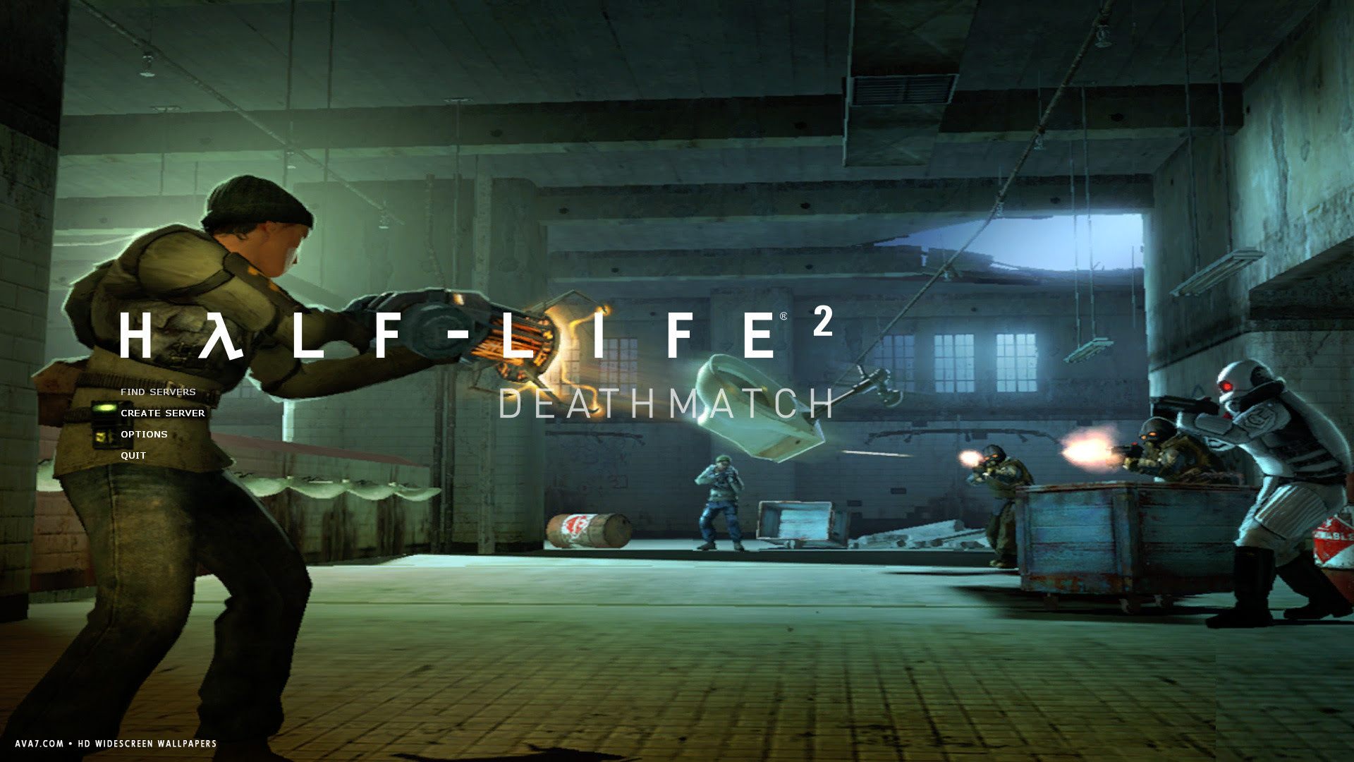 Half Life 2 Deathmatch Game Hd Widescreen Wallpaper Games