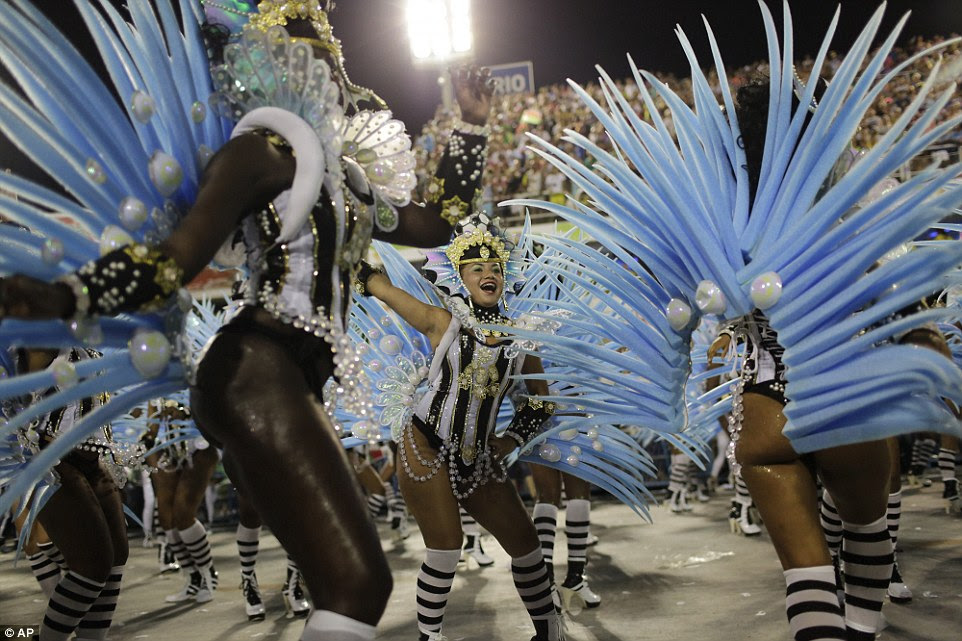Overnight hundreds of performers from some of the country's top samba schools competed in the incredible event