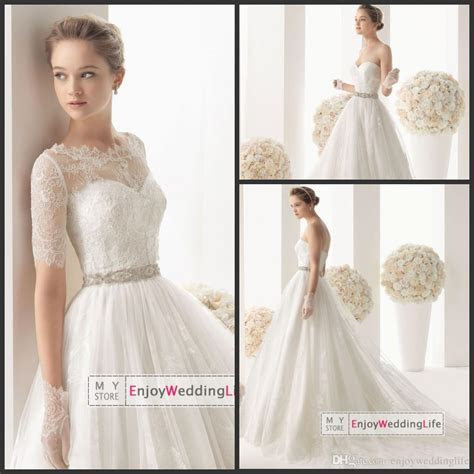 Wholesale A Line Wedding Dresses   Buy Free Lace Bolero