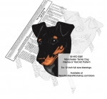 Manchester Terrier Dog Intarsia or Yard Art Woodworking Plan - fee plans from WoodworkersWorkshop® Online Store - Manchester Terrier dogs,pets,animals,dog breeds,intarsia,yard art,painting wood crafts,scrollsawing patterns,drawings,plywood,plywoodworking plans,woodworkers projects,workshop blueprints