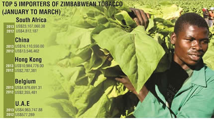 Scale of Zimbabwe tobacco exports. The Southern African state is a major producer of the crop. by Pan-African News Wire File Photos