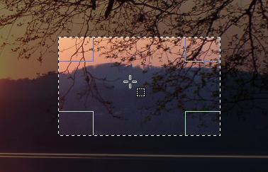 Esempio di selezione rettangolare.
