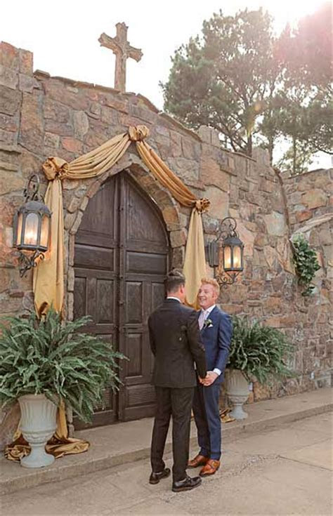 Castle on the Lake gay wedding in Jacksonville, Texas