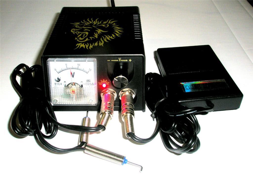 Analog Tattoo Gun Power Supply Clip Cord Foot Switch Powang