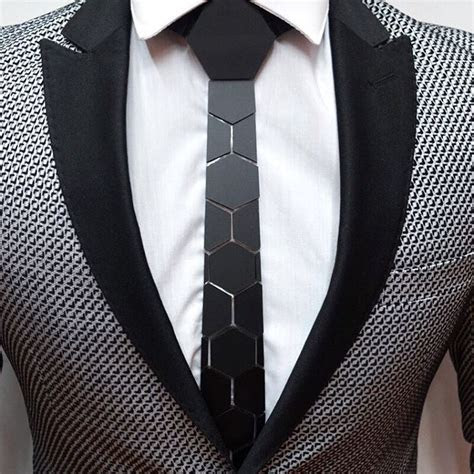 hex tie  modern mans newest accessory