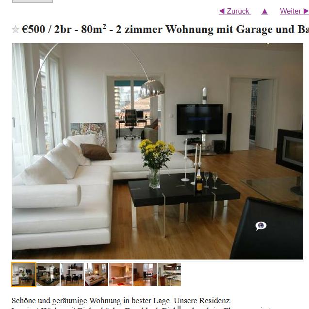 alias nicole zoller 2 zimmer wohnung mit garage und balkon 5. Black Bedroom Furniture Sets. Home Design Ideas